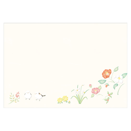 FUS封筒 冬の花々