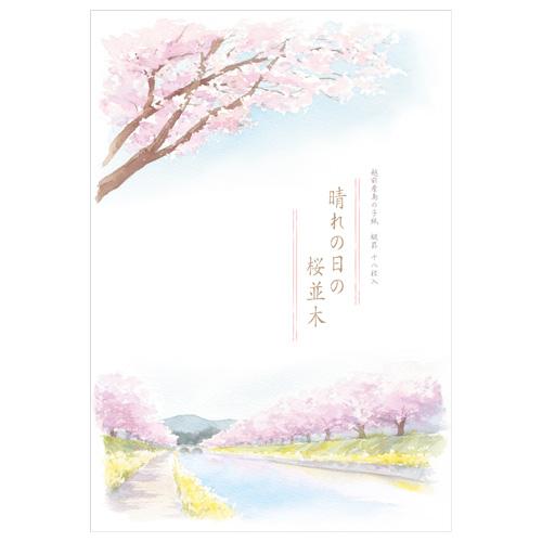 HY B5便箋 桜並木