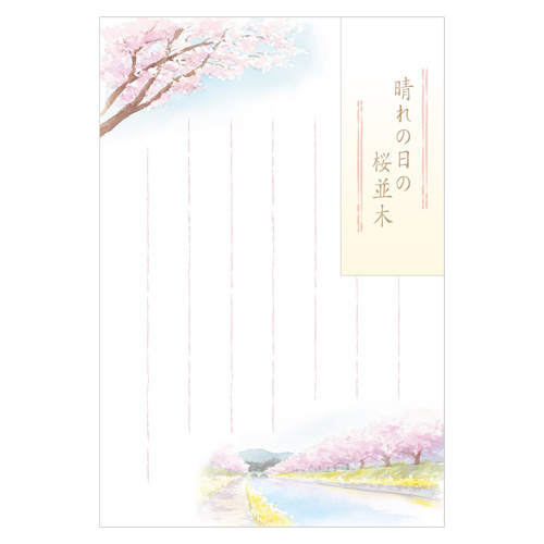 HYポストカード 桜並木