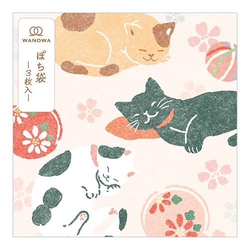 WW二つ折りぽち袋 日本猫